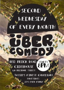 Uber comedy at Red Brick Road Ciderhouse